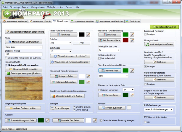 Homepage Software Download